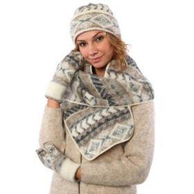 Комплект шапка, шарф, варежки 08111-72