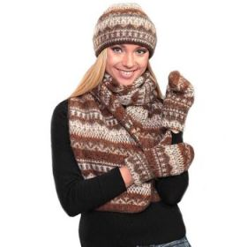 Комплект шапка, шарф, варежки 08104-15