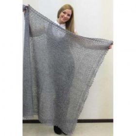 Платок пуховый серый 125*125 см