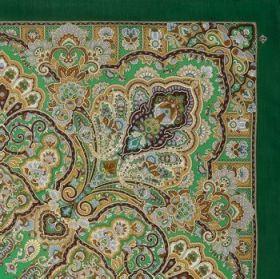 Платок павлопосадский 146*146 см Королева красоты [09]